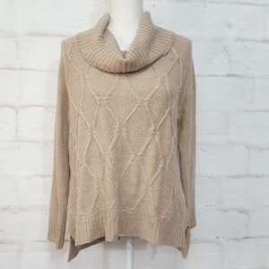 3/$30 89th & Madison Cowl Neck Sweater Tan Med